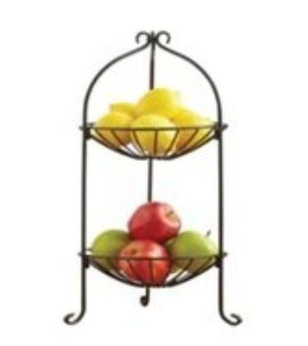 tier fruit stand ebay. Black Bedroom Furniture Sets. Home Design Ideas