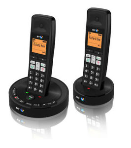 BT 3510 TWIN DIGITAL CORDLESS HOME PHONE WITH ANSWER PHONE & HANDS-FREE