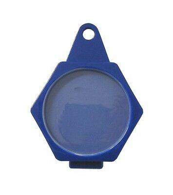 Tax Disc Holder Hexagon Plastic Folder Over Blue