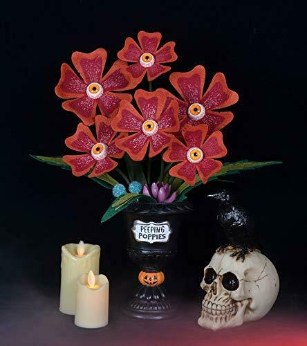 Halloween Succulents Peeping Poppies with Spooky Red Eyeballs Artificial