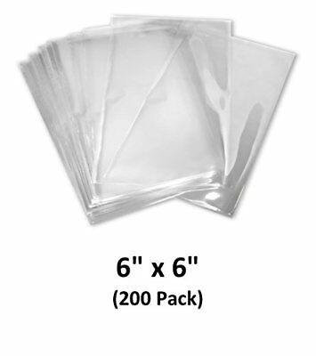 6x6 Inch Odorless Clear 100 Guage Pvc Heat Shrink Wrap Bags 200 Pack