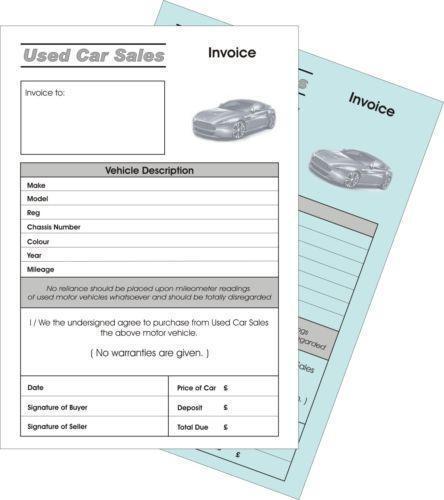 used vehicle invoice