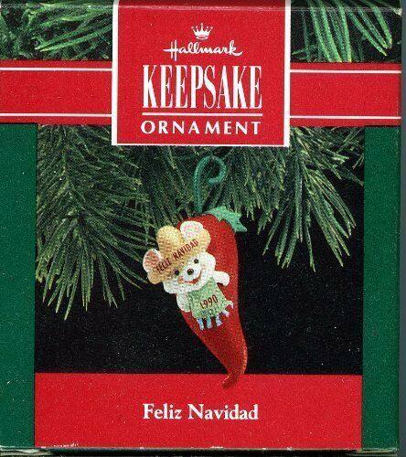 Hallmark Keepsake Ornament  Feliz Navidad 1990