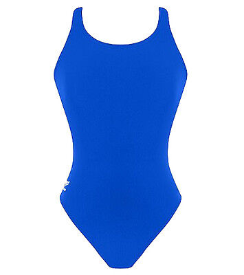 Speedo Solid Super Proback Women Adult Lycra Swimsuit Swimwear BLUE SZ- 14/40