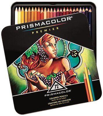 Prismacolor Premier Soft Core Drawing Professional Colored Pencils, 72 -- New