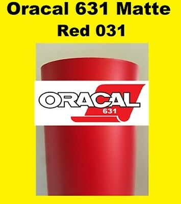 Oracal 631 Matte Red 031 Sign Vinyl Indoor Wall Stickers Cutter 12x 10 Ft