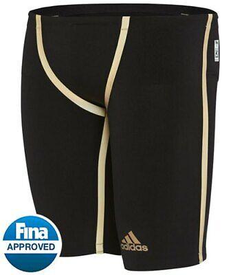 Adidas Swim Adizero XX Freestyle Jammer Tech Swimsuit Black Mens Size:26 EK1328