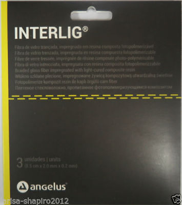 Interlig Angelus Glass Fiber Splint 3 Units Impregnated Light Cure
