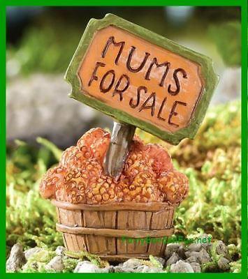 Miniature Dollhouse Fairy Garden Mums For Sale Sign Thanksgiving Halloween - Fairy Gardens For Sale