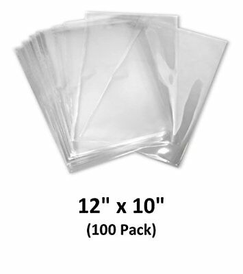 12x10 Inch Odorless Clear 100 Guage Pvc Heat Shrink Wrap Bags 100 Pack