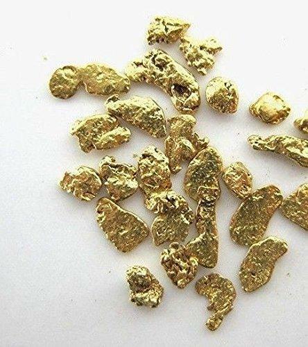 Alaskan Yukon Gold Rush Nuggets 14-12 Mesh 2 Grams of Fines