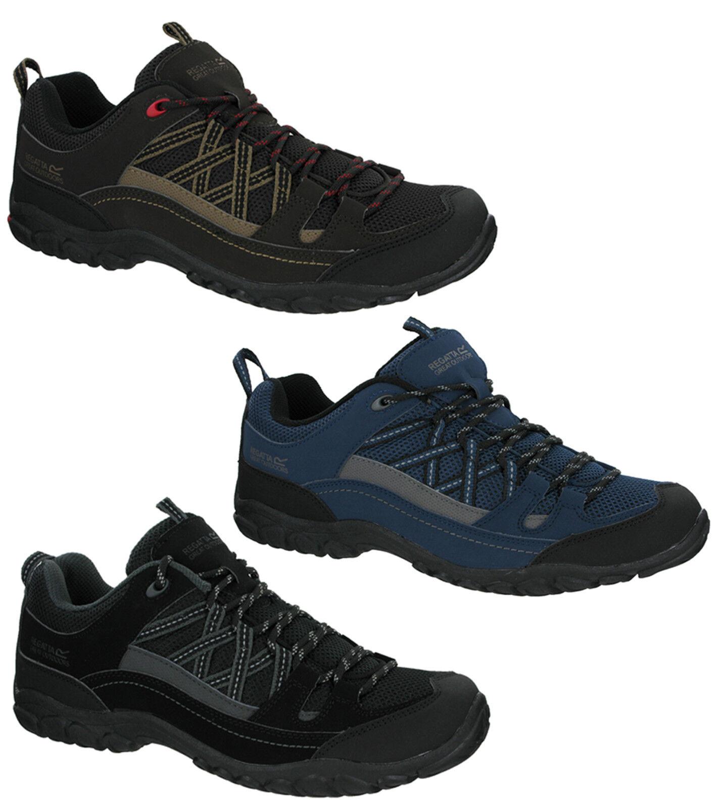 Detalles de Regatta Edgepoint II Low Para Hombre Caminar Trail Hiking Encaje Zapatillas Zapatos UK 7 12 ver título original