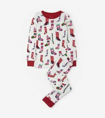 Boutique Christmas Pajamas (HATLEY Boutique STOCKINGS Pajamas PJs Holiday Christmas ORGANIC 8)