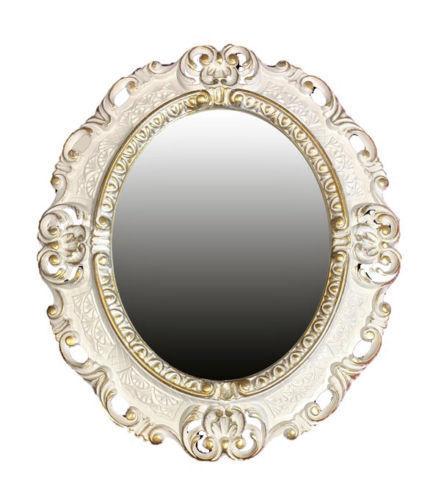 Wandspiegel Oval Dekospiegel Barock-spiegel Rahmen Antik Gold Verziert 55 x 40
