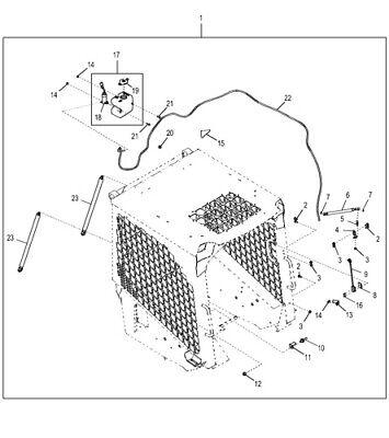 John Deere Skid Steer Loadercompact Load Severe Duty Door Hardware Kit At387526