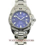 Mens Fossil Watch Blue