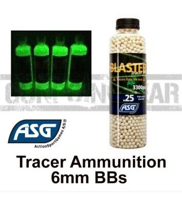 ASG Tracer Blaster 6mm Airsoft BB's Accurate Airsoft Ammo - 3300 0.20 & 0.25