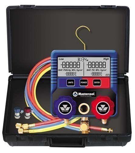 Mastercool Digital R134a A/C Manifold Gauge Set With Hoses 99872-A -