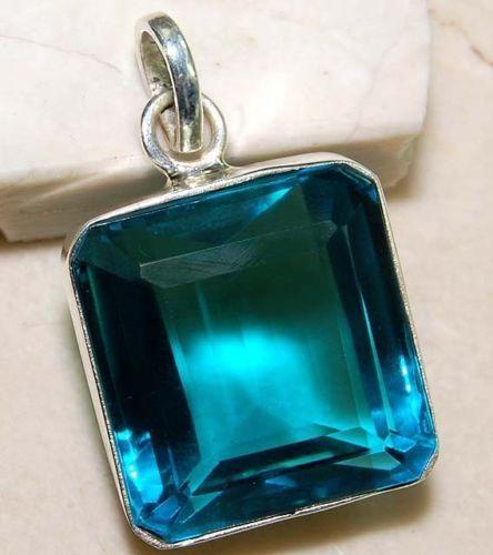 Blue Topaz Pendant Ebay