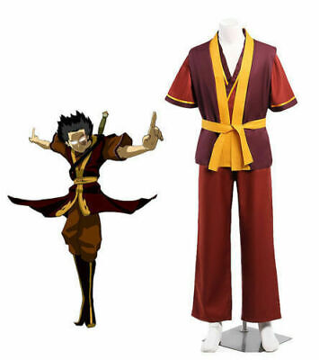Custom-made Avatar The Last Airbender Zuko Cosplay Costume Halloween Clothes MM
