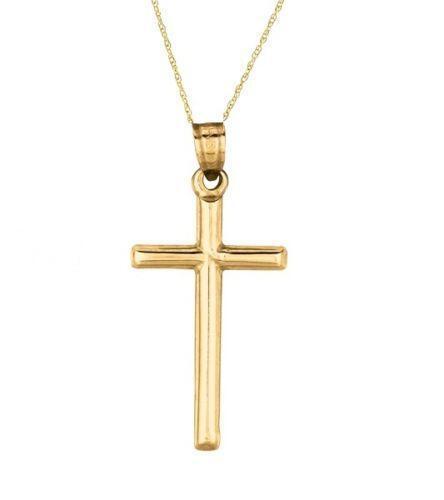 14k gold cross necklace
