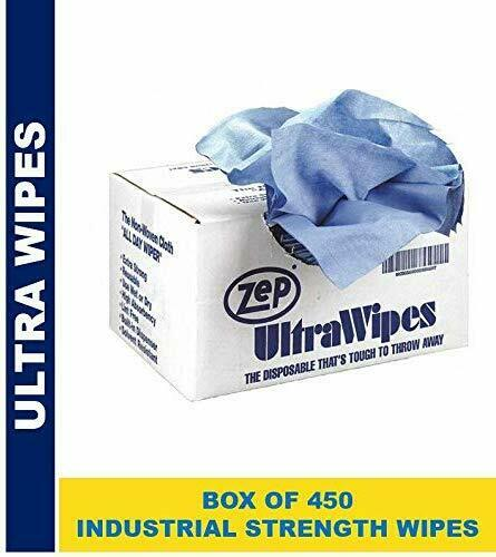 Zep Blue Ultra Wipes Shop Towel 895601(Case of 450 Wipes) 12x14 Inch Wipes