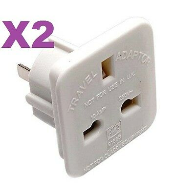 2PCs UK TO USA AMERICA JAPAN Europe Electric Wall Power Plug Converter Adapter