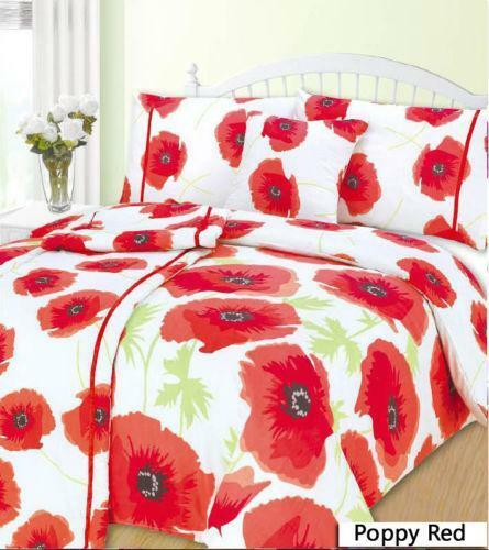Red Poppy Bedding Ebay