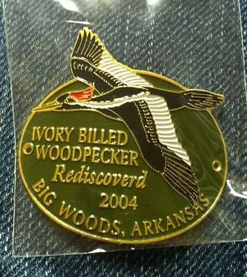 Ivory Billed Woodpecker Arkansas walking Stick Hiking Medallion NEW staff