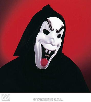 See Through Mask Halloween (Black Hooded Scream Ghost Mask With See Through Eyes Halloween Fancy)