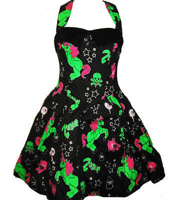 HELL BUNNY BLACK ZOMBIE PONY UNICORN DRESS 8-22 PLUS SIZE HALLOWEEN NEW HORROR ()