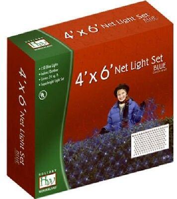 Noma 48954-88 Holiday Wonderland 150 ct 4' x 6' BLUE Net Christmas Lights ()