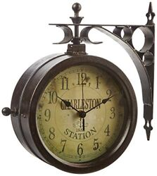 Indoor Outdoor 8 The Charleston Double Sided Clock & Thermometer  12430CT RUV2