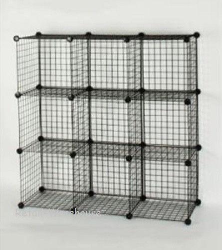 Black Wire Storage Cubes Ebay