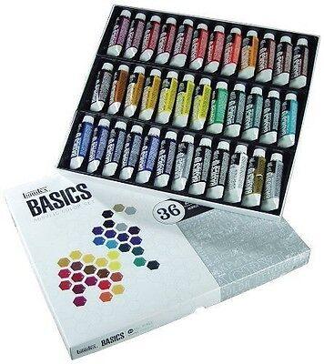 Liquitex BASICS Acrylic Paint Tube 36-Piece Set 36 Tube Set New
