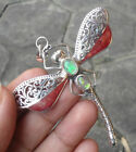 Opal Sterling Silver Handcrafted Brooches
