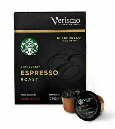 Starbucks Verismo Espresso Roast Espresso Single Serve Verismo 12 Pods EXP 05/21