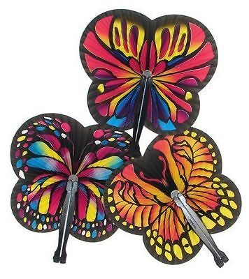 Butterfly Birthday Party Favors (12 Butterfly Shaped Folding Fans Girls Kids Birthday Party Favors Gifts)