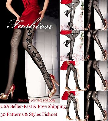 Hot Sexy Unique Pattern Fish Net Stockings Multiple Styles Pantyhose for - Fish Costume Patterns