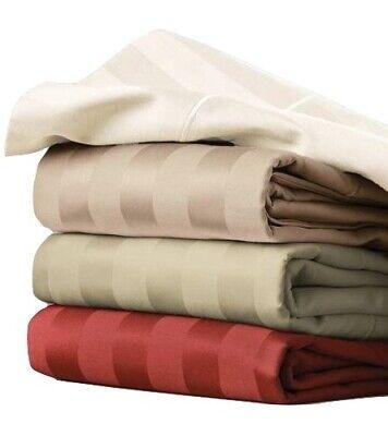 2 Pack NWT Better Homes Gardens 400 Egyptian Cotton Damask Stripe Pillow Cases