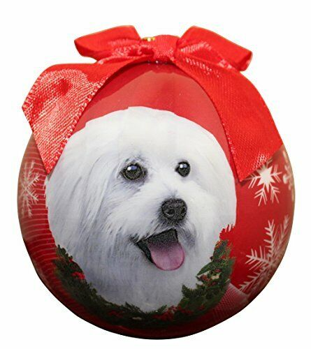 """""""Maltipoo Christmas Ornament"""" Shatter Proof Ball Easy To Personalize"""