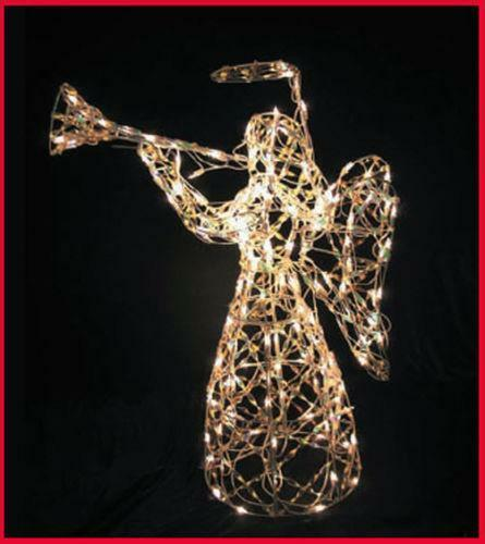 Outdoor christmas decorations angel ebay for Outdoor lighted christmas ornaments