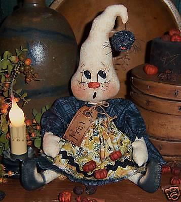 Primitive Ghost Ann Halloween Annie Doll Paper Pattern #517