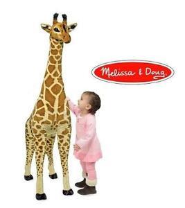 NEW MELISSA  DOUG GIRAFFE PLUSH DOLL OVER 4' TALL STUFFED ANIMAL ANIMALS DOLL DOLLS GIRAFFES KIDS BABIES BABY TOY