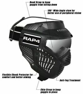 New Rap4 Hawkeye Tactical Paintball Mask Dual Thermal Lens Black