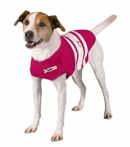 BRAND NEW XXL ThunderShirt for dogs Pink with Wht stripes