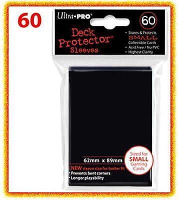 60 Ultra Pro DECK PROTECTOR Card Sleeves Black Yu-Gi-Oh Vanguard Card Protectors