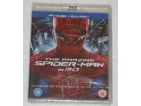 DVD 3D FILM MOVIE BLURAY THE AMAZING SPIDER-MAN IN 3D EXCLUSIVES PLUS PAL 2D NEW