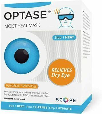 1x Optase Moist HEAT Mask For Blepharitis MGD Dry eye RECOMMENDED BY OPTICIANS