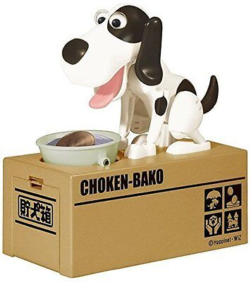 Choken Puppy Hungry Eating Dog Coin Bank Money Saving Box Piggy Bank Present Hot